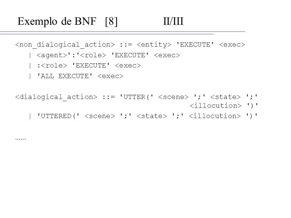 Exemplo de BNF [8] II/III